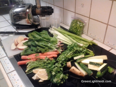 vegetables to make juice
